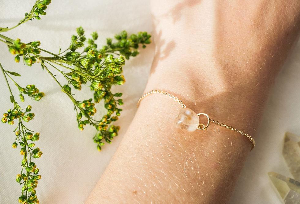 Bracelet IRIS - VERRE DE BOHEME - OR