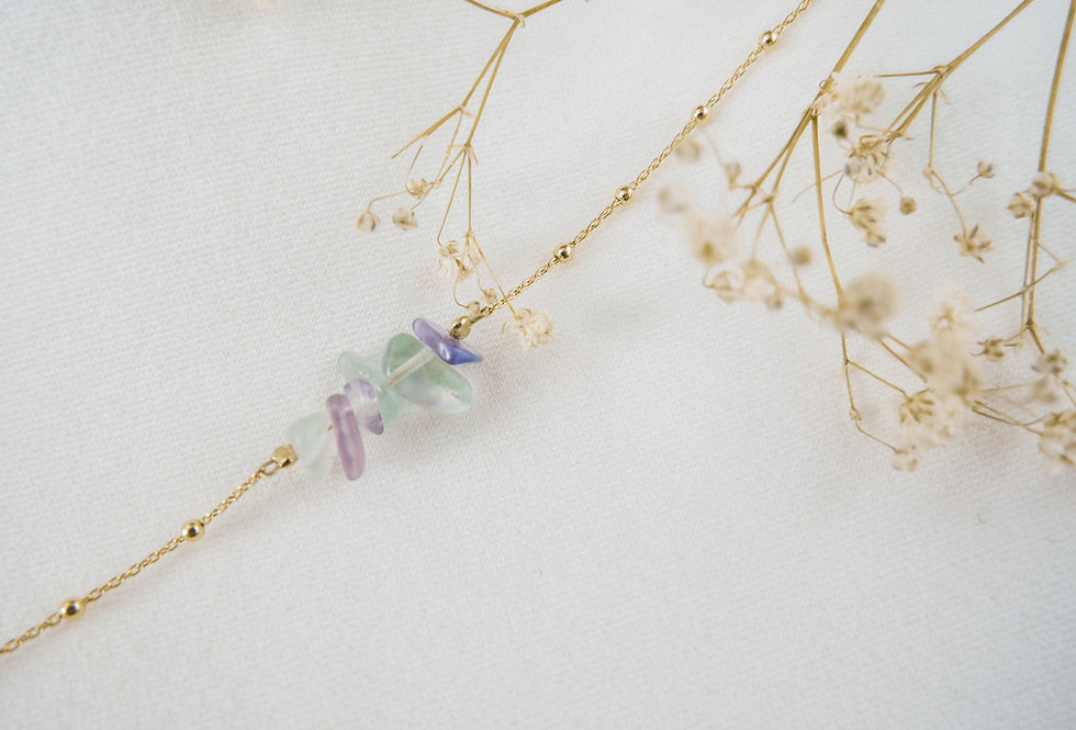 Bracelet INSPIRATIONAL - FLUORITE - OR