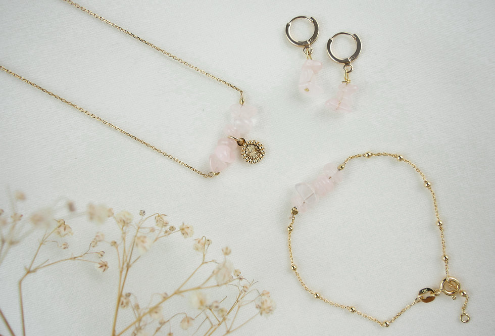 Coffret NINA PINK - QUARTZ - OR