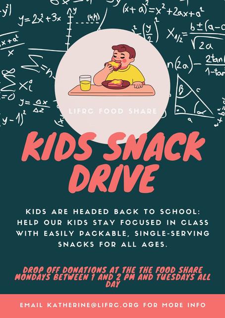 Back to School Kids' Snack Drive