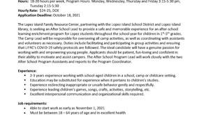 After School Programs Lead                          Job Opportunity