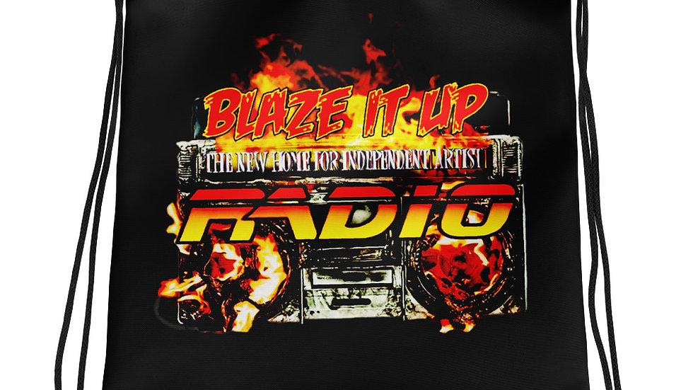 Blaze It Up Radio Drawstring bag