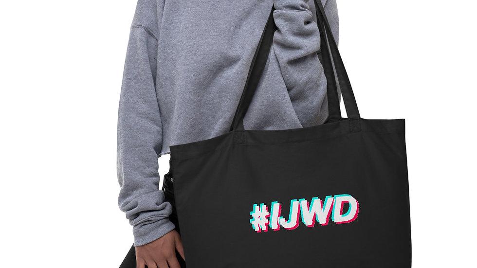 #IJWD Large organic tote bag