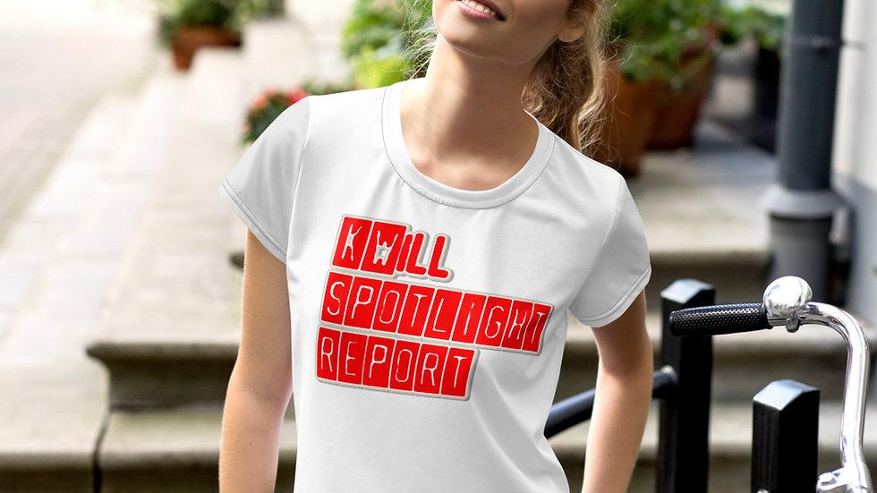 K-Will Spotlight Report All-Over Print Crop Tee