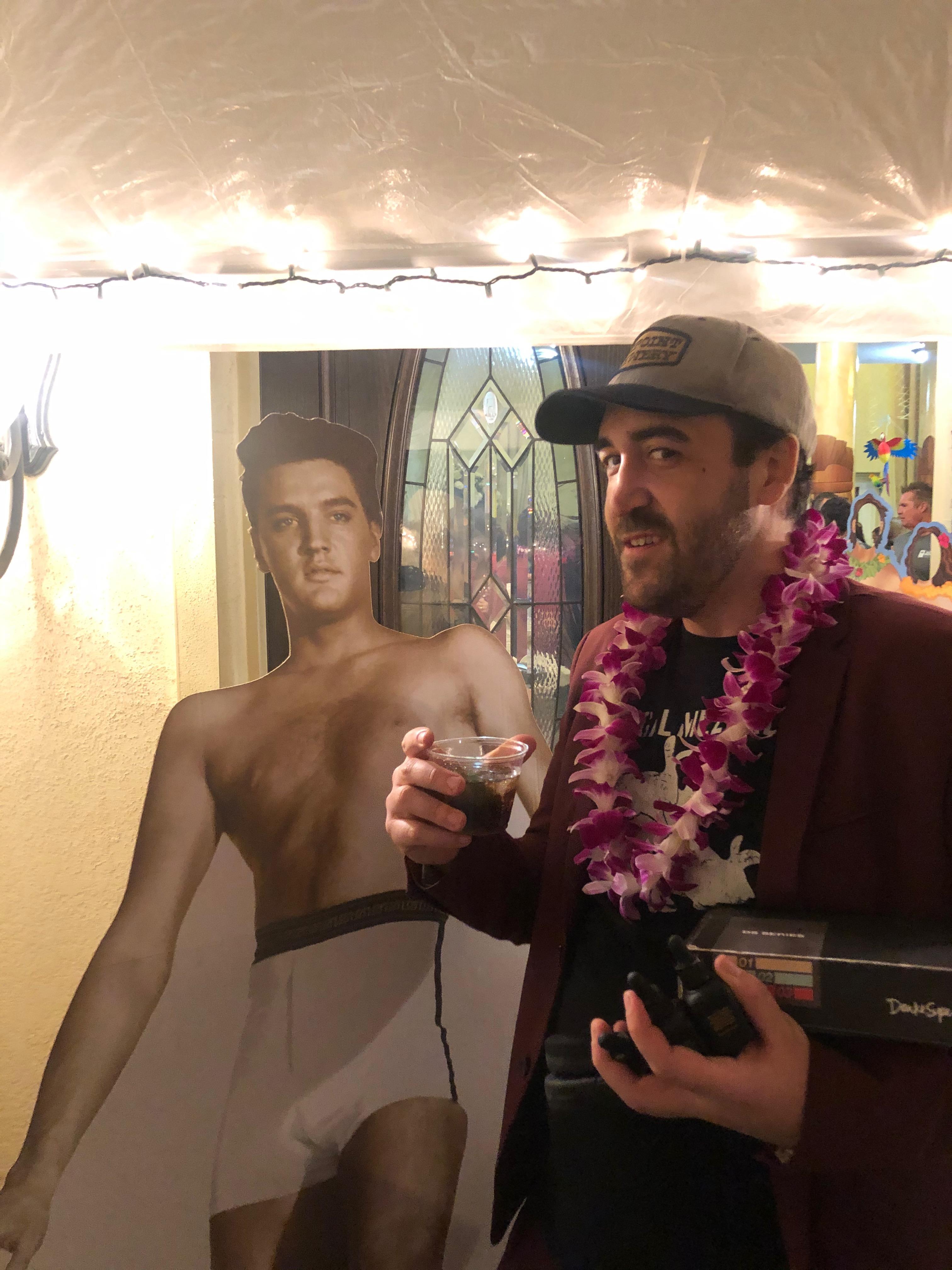 Elvis at Flip Flop shop party