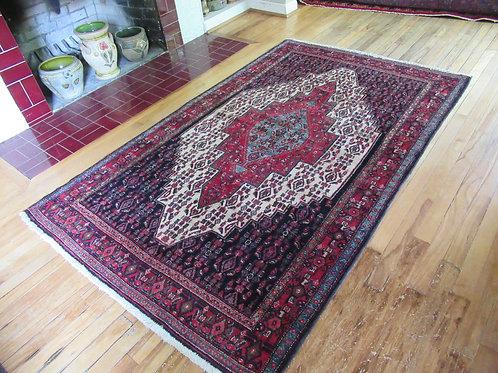 4 x 6.5 Hand Tied Persian Senneh Rug