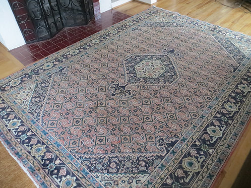 6.5 x 9  Hand Knotted Persian Tabriz Rug