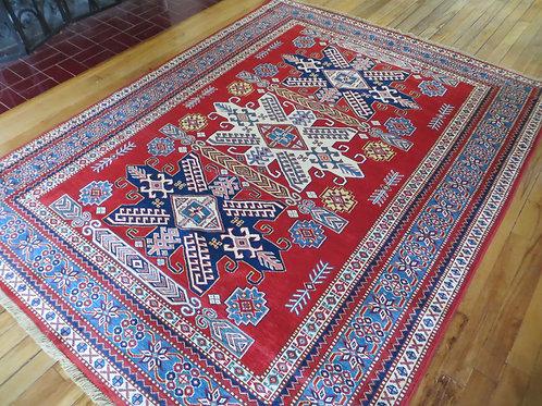 5 x 6.5 Hand Tied Afghan Kazak Rug