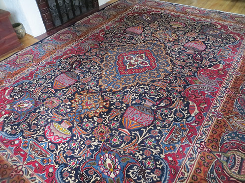 10 x 13 Hand Knotted Persian Kashmar Archaeological Rug