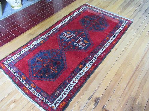 2.5 x 5 Hand Tied Persian Hamadan Rug