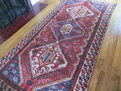 4.5 x 9.5 Hand Tied Persian Meshkin Rug