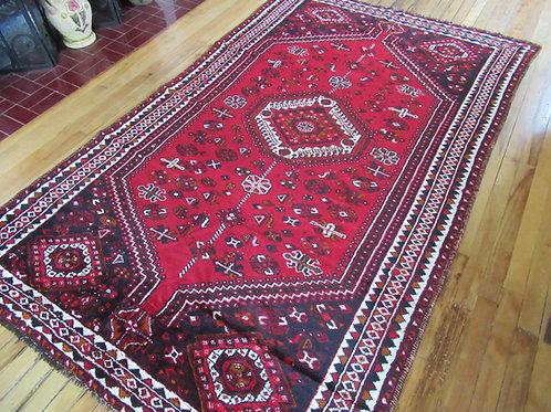 4.5 x 7.5 Hand Tied Persian Qashqai Rug