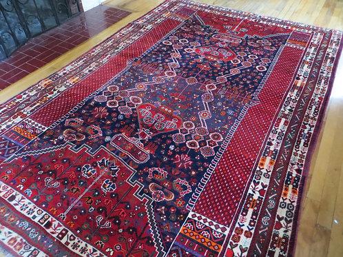 6 x 9 Hand Tied Persian Qashqai Rug