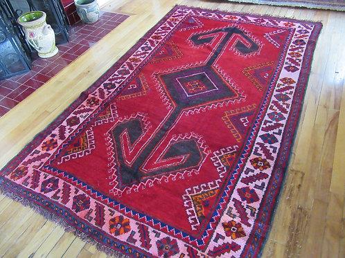 4.5 x 7.5 Hand Tied Caucasian Kazak Rug
