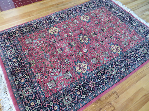 4 x 6 Hand Knotted Indo-Persian Mahal Rug