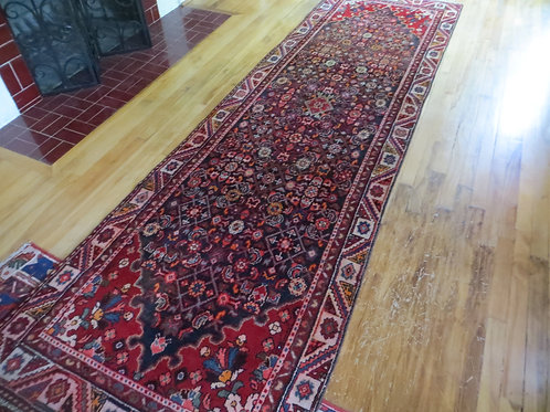 3.5 x 11 Hand Tied Persian Malayer Rug
