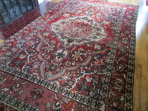 6.5 x 10 Hand Tied Persian Bakhtiar Rug