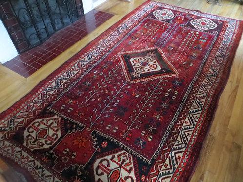 5.5 x 10.5 Hand Tied Persian Yalameh Rug