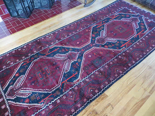 4 x 9.5 Hand Tied Afghan Baluch Rug