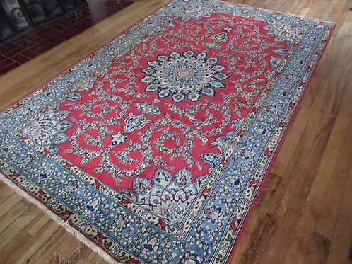 4.5 x 7.5 Hand Knotted Persian Isfahan Rug
