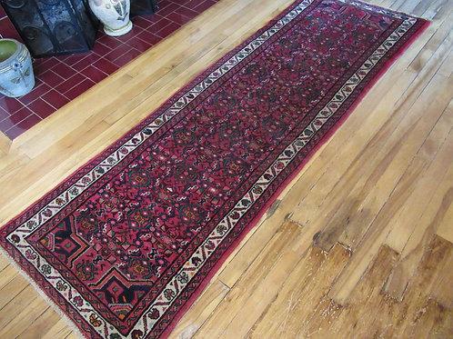 2.5 x 7 Hand Tied Persian Hosseinabad Rug