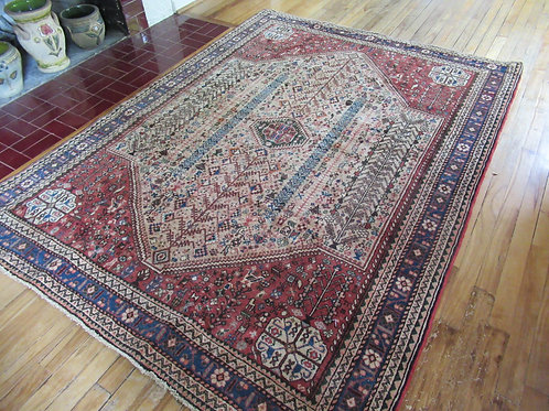 5 x 7 Hand Tied Persian Abadeh Rug