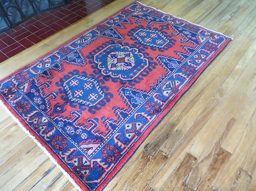 3.5 x 5 Hand Tied Persian Viss Rug