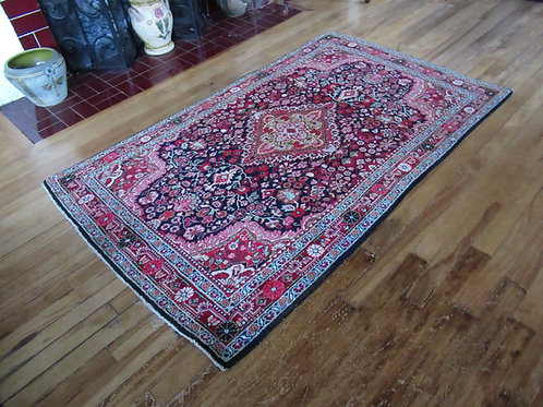 3.5 x 5.5 Hand Knotted Persian Tabriz Rug