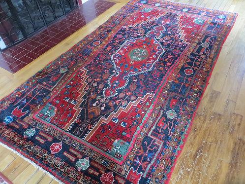 4.5 x 8 Hand Tied Persian Touserkan Rug