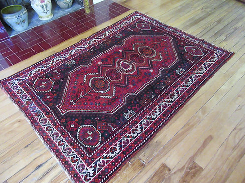 4 x 5.5 Hand Tied Persian Qashqai Rug