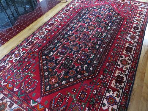 5.5 x 10 Hand Tied Persian Afshar Rug