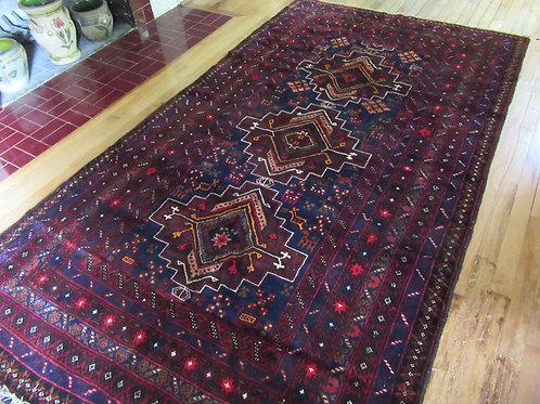 4.5 x 8.5 Hand Tied Afghan Baluch Rug
