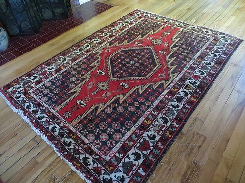 4.5 x 6.5 Hand Tied Persian Mazleghan Rug