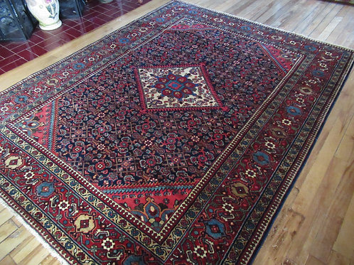 5 x 6.5 Hand Tied Persian Bijar Rug