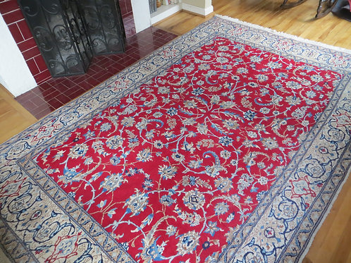 6.5 x 10 Hand Knotted Persian Isfahan Rug