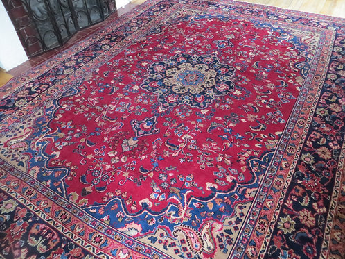 8 x 11 Hand Knotted Persian Khorason Rug