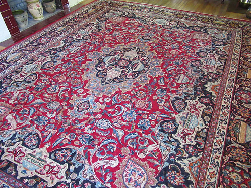 10 x 12 Hand Knotted Persian Kashmar Artifact Rug