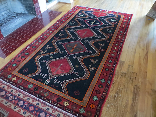 5 x 8 Hand Tied Persian Shahsaven Rug
