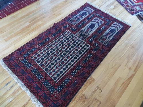 3 x 5 Baluch Hand Tied Prayer Rug