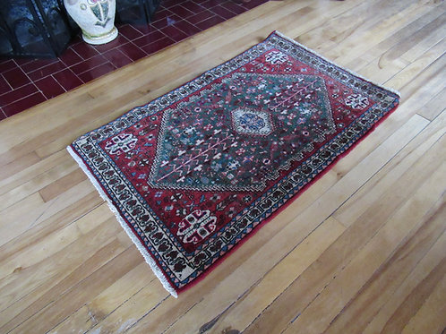 2 x 3.5 Hand Tied Persian Abadeh Rug