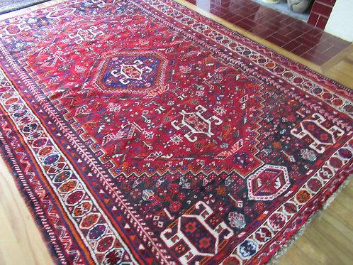 6 x 8.5 Hand Tied Persian Qashqai Rug