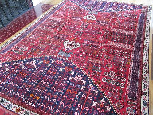 6.5 x 9.5 Hand Tied Persian Qashqai Rug