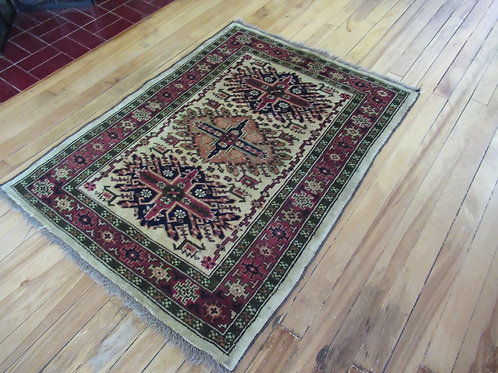 3 x 3.5 Hand Knotted Afghan Baluch Rug