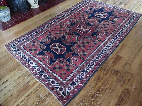 4 x 6.5 Hand Tied Caucasian Kazak Rug