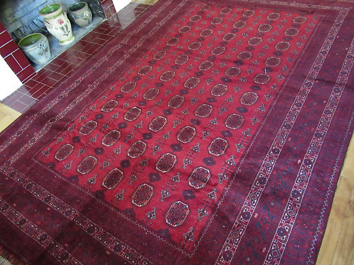 6.5 x 9.5 Hand Tied Afghan Turkman Rug