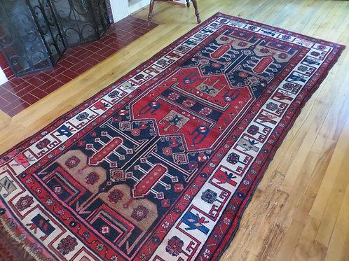 4 x 9.5 Hand Tied Persian Kolyai Rug