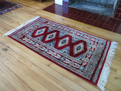 2 x 4 Hand Knotted Bokhara Rug