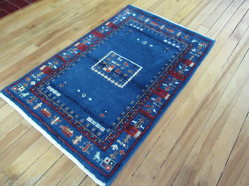 2 x 3 Hand Tied Persian Gabbeh Rug