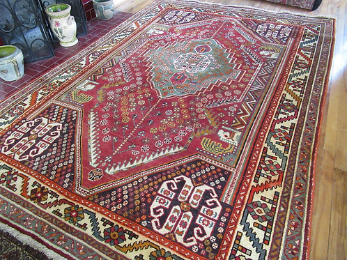 6.5 x 9.5 Hand Tied Persian Abadeh Rug