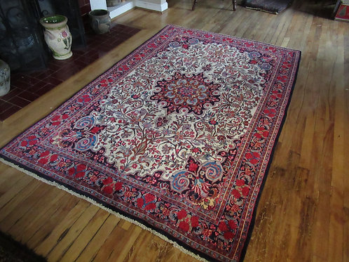 4.5 x 7 Hand Knotted Persian Khorason Rug